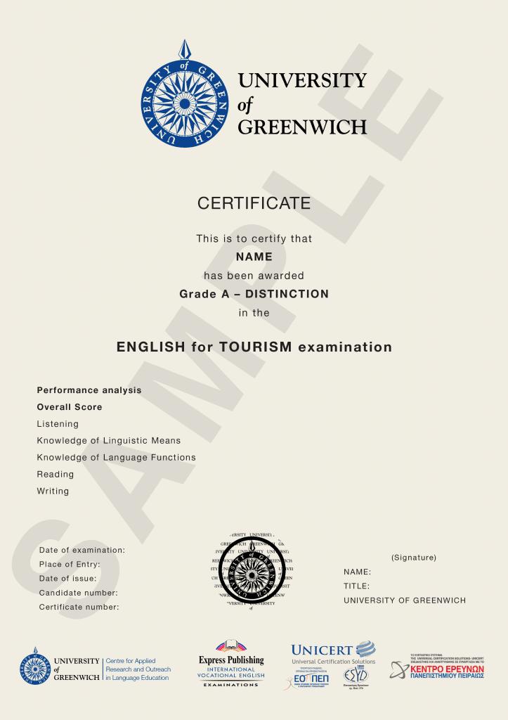 Certificate GreenwichMPEZHELVfca12